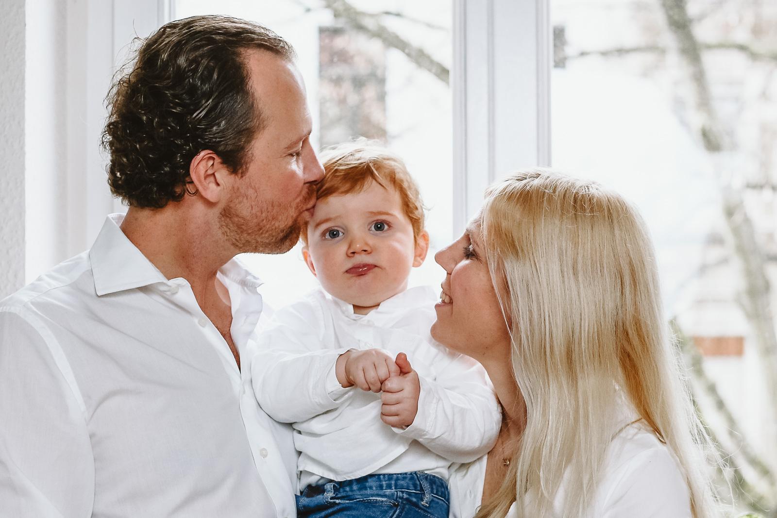 Familienfoto Mama,Papa und Sohn