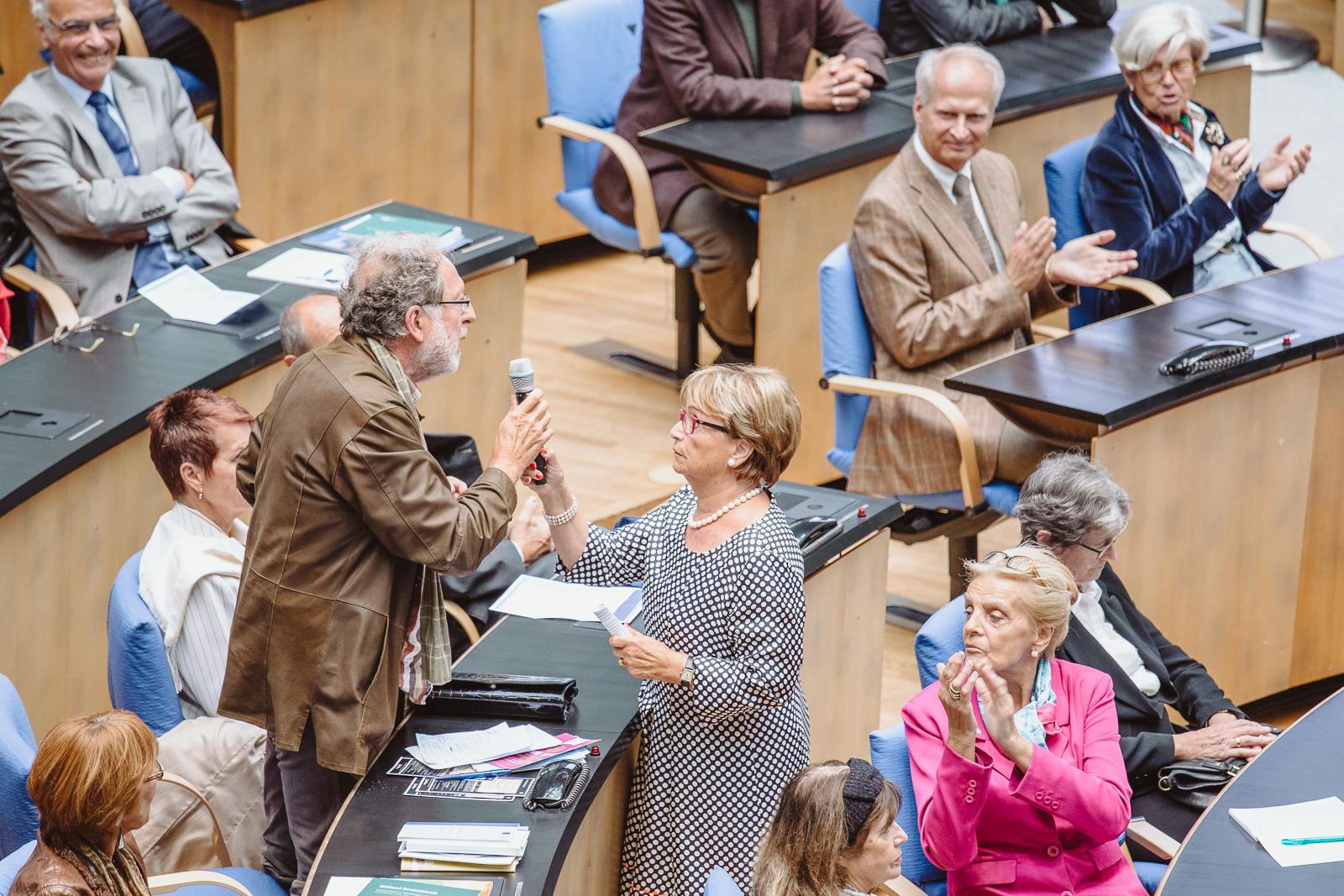Konferenzfotografie - Gästemeinungen zu Politikeraussagen - Wasserwerkgespräch der Konrad-Adenauer-Stifung